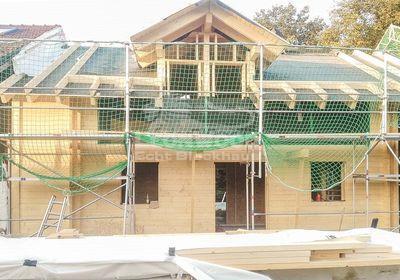 LéonWood® realisiert Blockhausanbau an bestehendes Bauernhaus