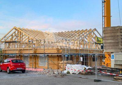 Rundstammhaus Great Canada Allgäu, Einliegerwohnung, Baustoff Holz