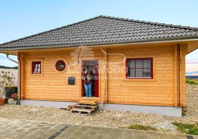 Gute Laune Blockhaus, Oberbayern, Victoria, ebenerdiges Bauen