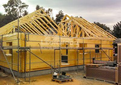 Blockhaus Canada in Sachsen, ebenerdiges Bauen, ökologisch Bauen