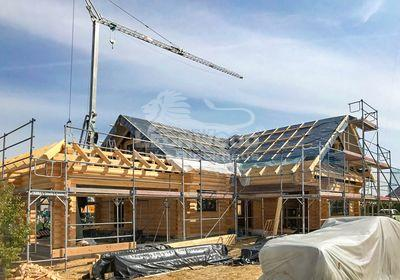 Blockhaus Canada bei Magdeburg. Familiendomizil, ökologisch Bauen