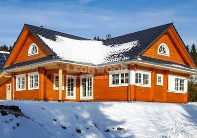 Blockhaus Canada Schwarzwald, Winkelbungalow, klassisches Holzhaus