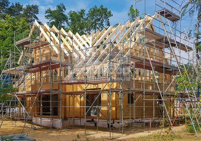 Holzhaus Feodora bei Potsdam, Familien-Villa, Baustoff Holz