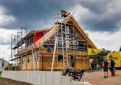 Holzhaus, California-Blue, LeonWood, Erzgebirge, Gaube