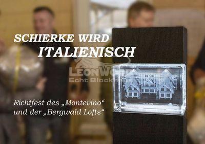 Richtfest in Schierke, Blockhaus-Osteria von LeonWood, Montevino, Bergwald Lofts