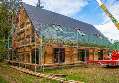 Individual Blockhaus Spreewald, Rundstammhaus, Baustoff Holz