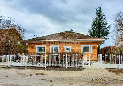 Individual Blockhaus-Bungalow Havelland, Lärchenholz, ebenerdig Bauen