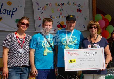 Spenden zugunsten krebskranker Kinder, LeonWood unterstützt seit Jahren den Benefizlauf in Oberwiesenthal