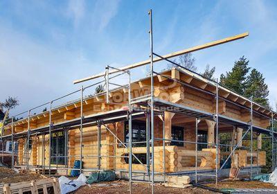 Blockhaus Alaska Gotha, Thüringen, Terrasse, Baustoff Holz