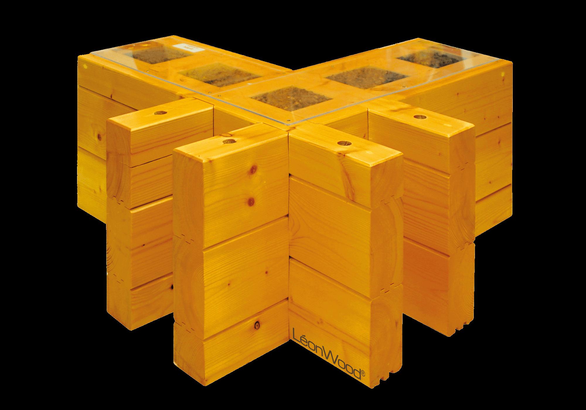 Die BIO-Doppelwand® von LéonWood® verfügt über hervorragende Wärmedämmeigenschaften und schafft die Basis für ein wohliges Gefühl im Holzhaus.