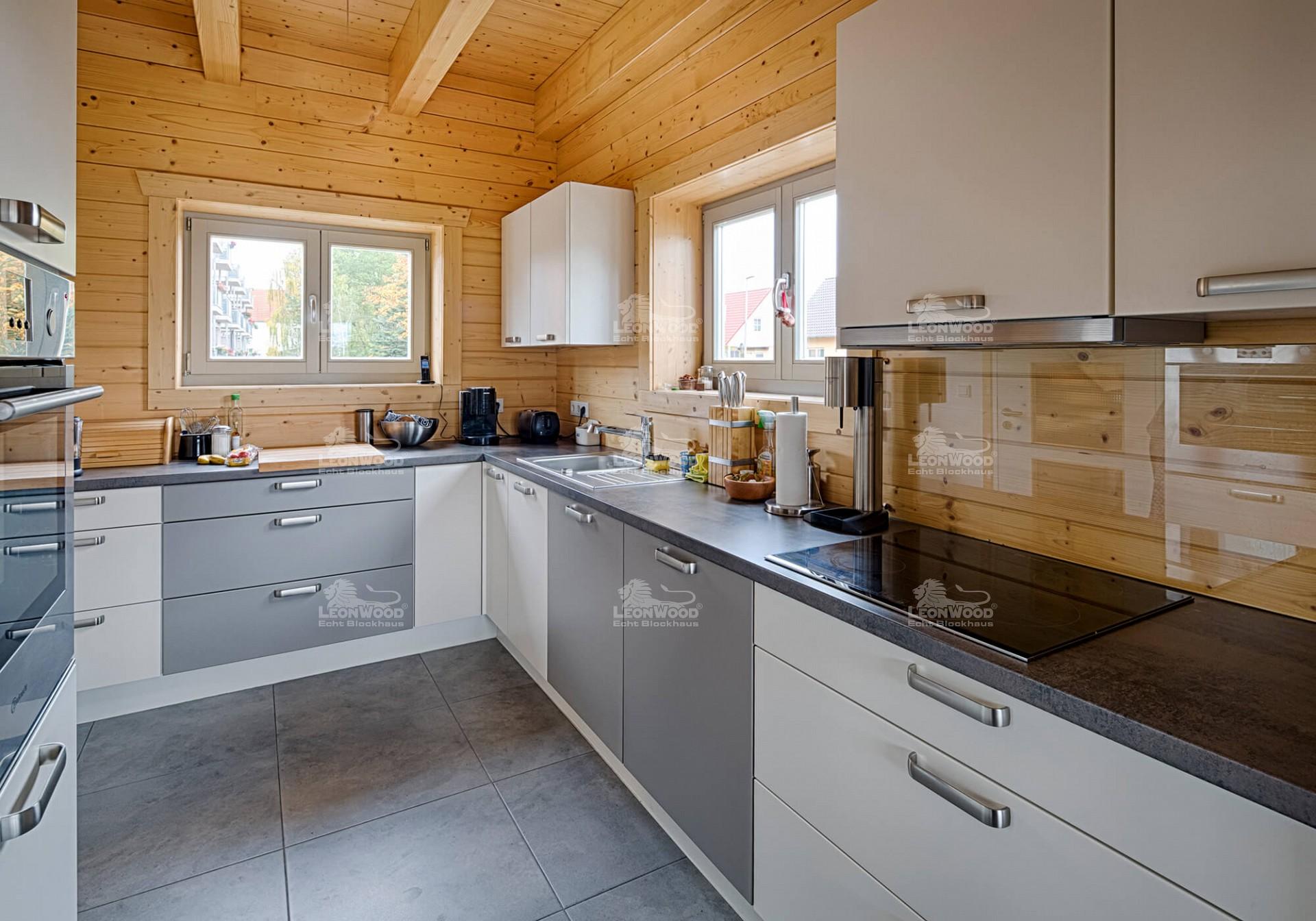 Schön Blockhaus Bilder Von Der Küche Fotos - Küche Set Ideen ...