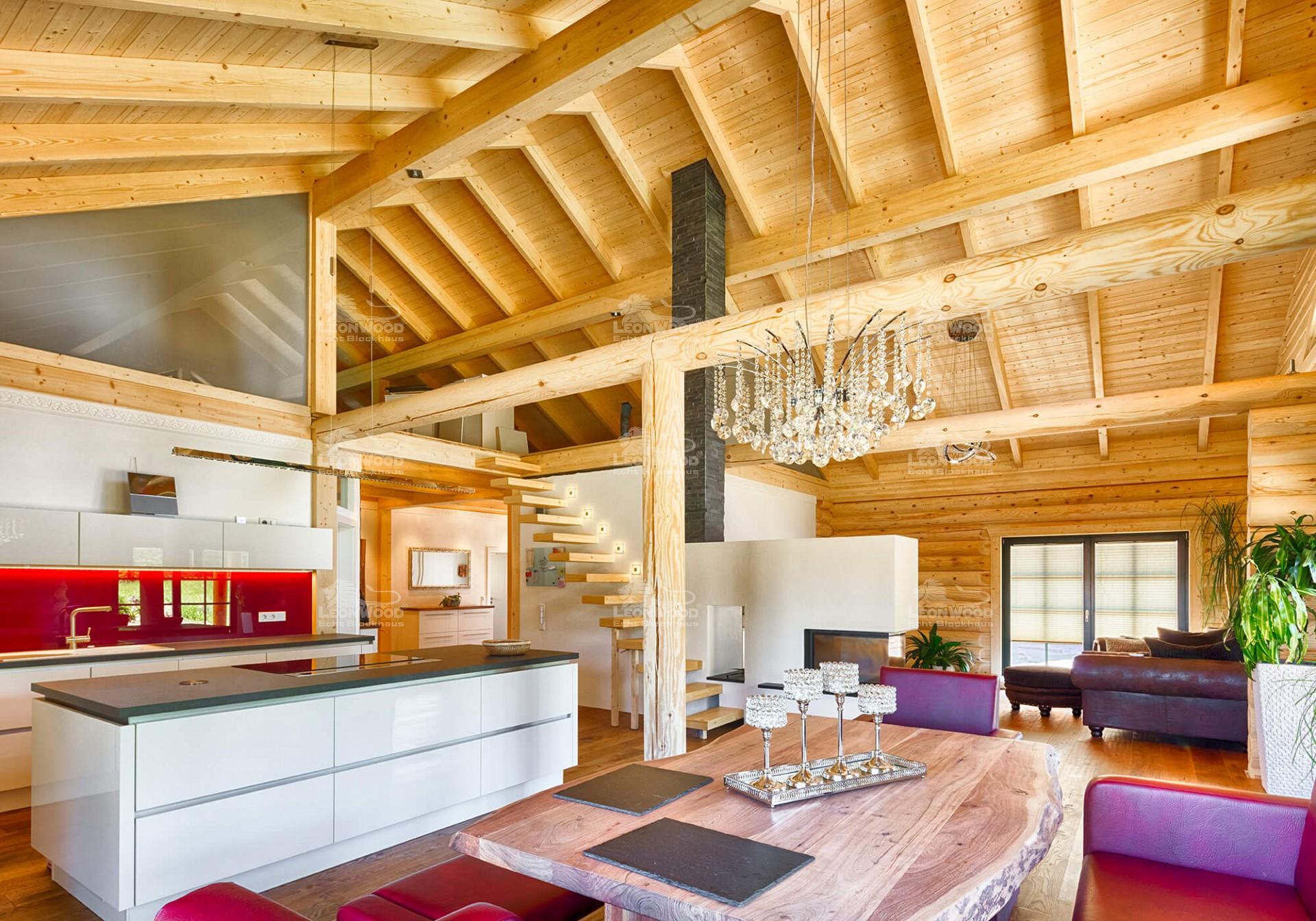 Großzügig Blockhaus Innenarchitektur Küche Fotos - Küche Set Ideen ...
